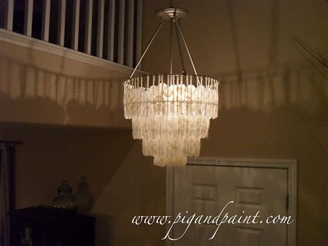 Create A Chandelier Pig And Paint How To Make A Diy Capiz Shell Chandelier