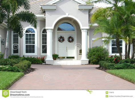 home entrance elegant entrance to beautiful home stock image image of