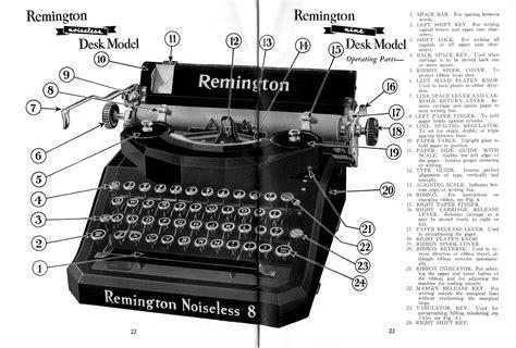 typewriter parts diagram typewriter manuals