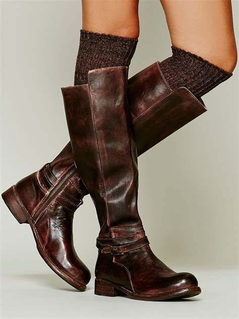 bed stu shoes womens bed stu bonnor tall boot in brown lyst