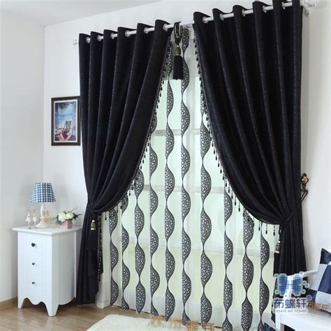 black blackout curtains bedroom aliexpress com buy full blackout curtains drapes for