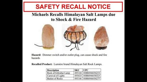 himalayan salt l fire hazard michaels recalls salt ls for shock fire hazard ktvb com