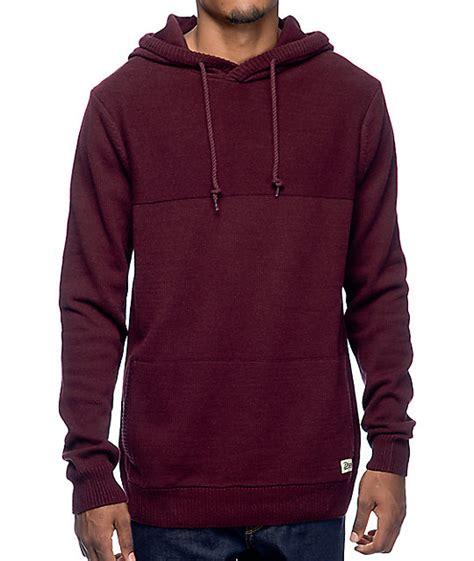 Hodie Vina dravus roald burgundy hooded sweater