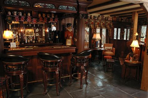 Cheap Bedroom Furniture Packages english style basement pub traditional home bar