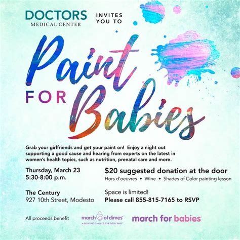 paint nite modesto paint out for to benefit march of dimes