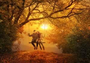Autumn love fall forest leaf leaves swing hd jpg