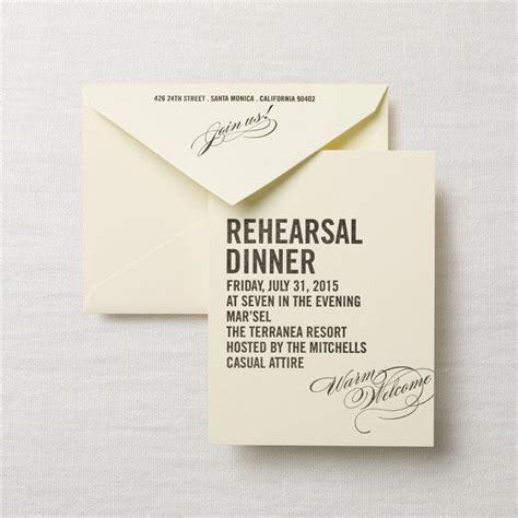 dinner rehearsal invitations letterpress caps and calligraphy rehearsal dinner invitation crane