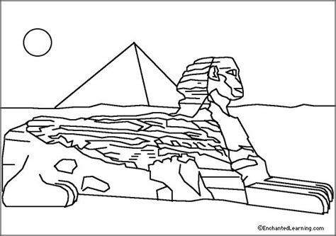 sphinx coloring page enchantedlearning com