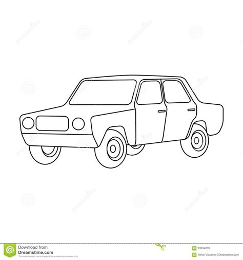 Outline Style Auto by Hotrod Illustrations Vector Stock Images 538 Pictures To From