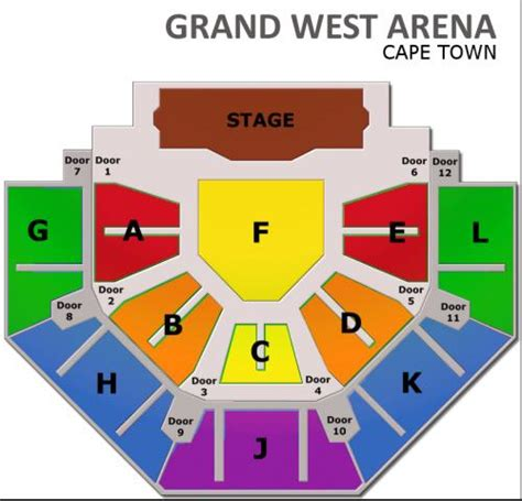 Grand Arena Floor Plan by Afrikaans Is Groot Kaapstad 18 Maart 07 00pm Tickets