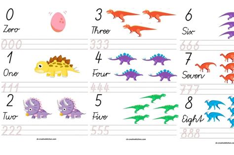 printable dinosaur numbers dinosaur numbers free printables creative kitchen