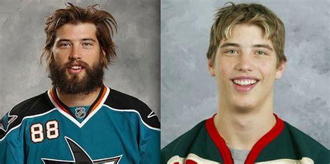Playoff Beard Meme - des joueurs de hockey avec et sans leur barbe des s 233 ries