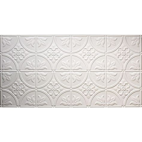 surface mount ceiling tiles global specialty products dimensions faux 2 ft x 4 ft glue up tin style white ceiling tile for