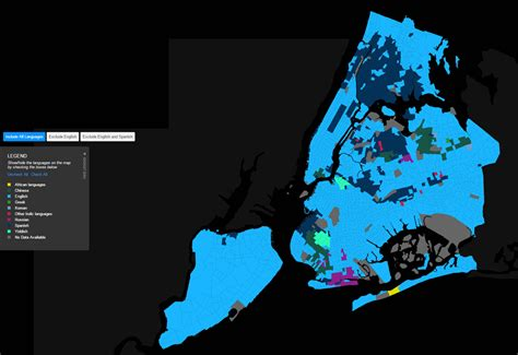 map new york city languages languages of new york city maps