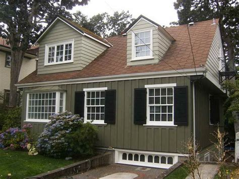 exterior paint ideas with brown roof house colors with brown roof
