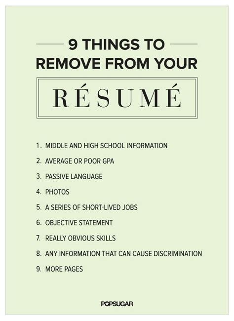 Resume Writing Hacks 9 Things To Remove From Your R 233 Sum 233 Right Now Hacks