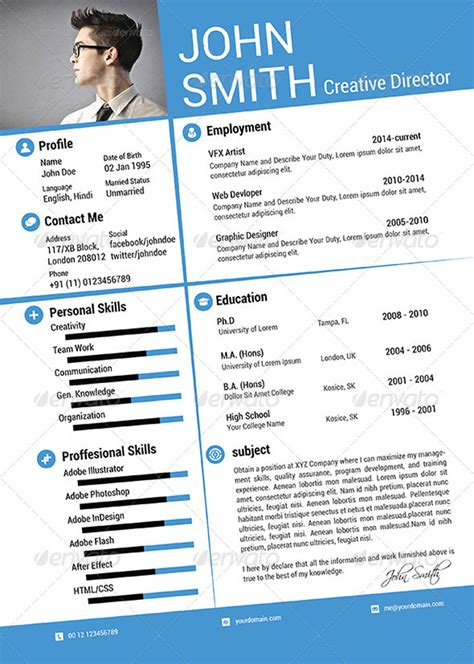 Attractive Resume Templates Free 25 attractive print and resume templates