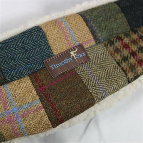 Tweed Patchwork - unique tweed patchwork ear warmer timothy foxx