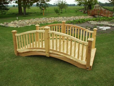 garden footbridge how to build wooden bridge cedar bridge shop com garden