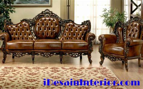 harga sofa klasik kursi sofa kulit mewah idesaininterior