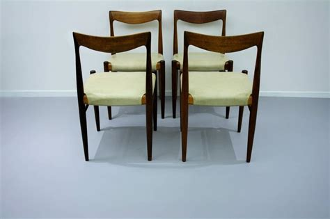 mid century dining chairs x 4 extension table vintage
