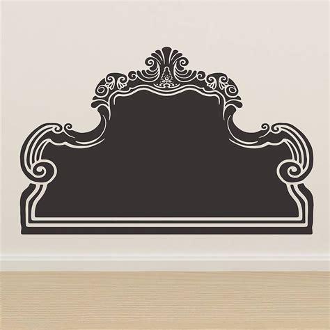 headboard wall stickers vintage bed headboard wall sticker by oakdene designs