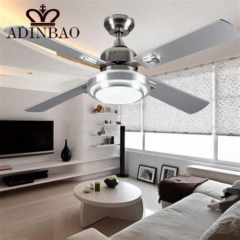 Modern Silver Color Ceiling Fans Industrial Bright Ceiling Ceiling Fans With Bright Lights