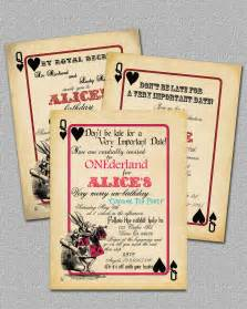 items similar to playing card alice in wonderland