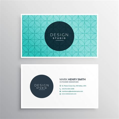 business card templates in vector beautiful business card template vector free