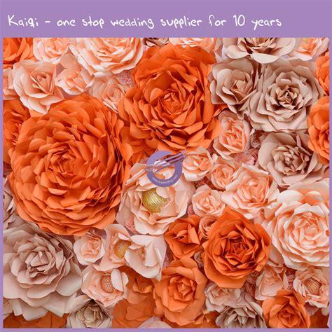 Wedding Background Orange by Orange Blush Wedding Paper Flower Background 58 Kaiqi