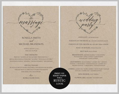 14 Wedding Program Templates Editable Psd Ai Format Download Free Premium Templates Diy Wedding Program Template