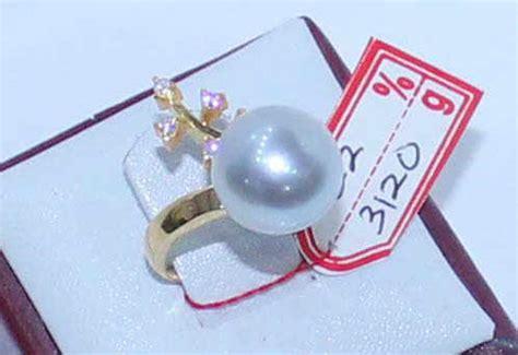 Cincin Rhodium Mutiara Air Laut 45 cincin zirkon merak mutiara laut putih cin 02