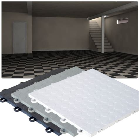 basement tiles interlocking polymer base floor