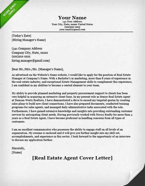 real estate sample letters sample cover letter real estate image