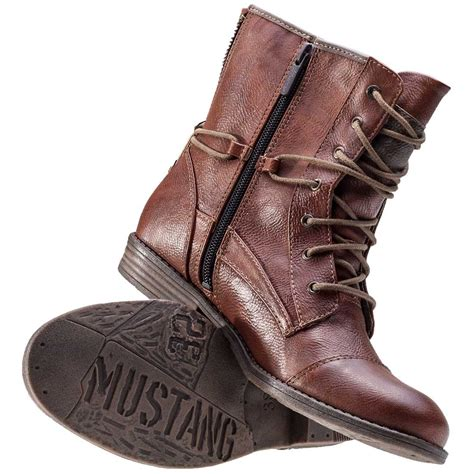 cognac boots for mustang ankle boot womens boots in cognac