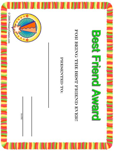 what are the best sheets award certificates primarygames free printable