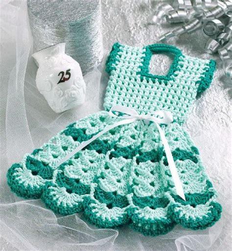 crochet pattern only w057 crochet pattern only doll dress pot holder potholder