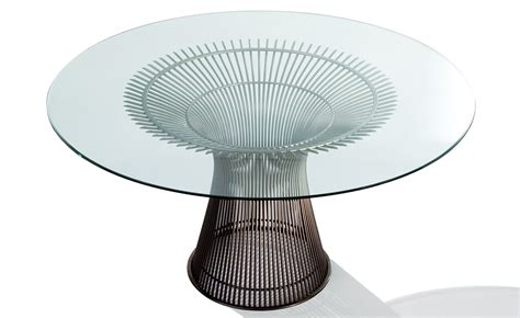warren platner dining platner bronze dining table hivemodern com