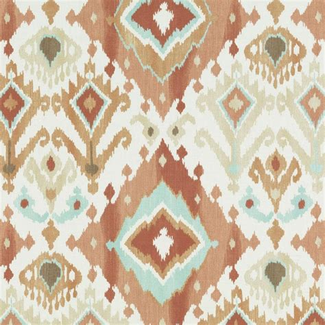 ikat upholstery aqua blue brown ikat upholstery fabric custom blue gold