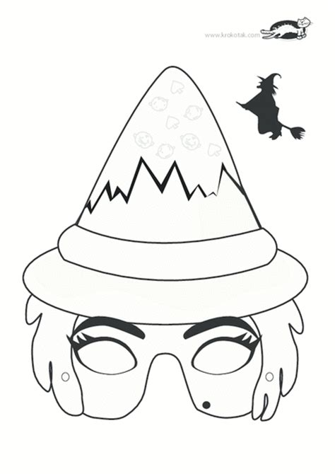 printable witch mask template krokotak print printables for kids