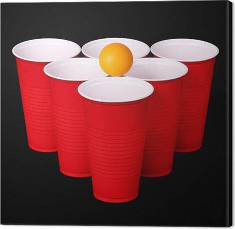 palla di bicchieri di plastica quadro su tela pong bicchieri di plastica rosso e