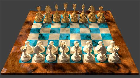 chess board design 3d chess board design white player view by 8dfineart on