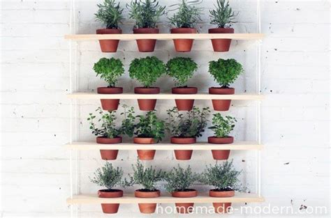 diy hanging herb garden 23 astonishingly easy woodworking project for beginners