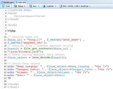 cara membuat data json menilkan data json dengan php