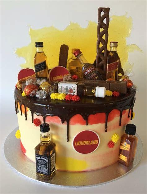 Cetakan Fondant Liquor Bottle liquor cake with mini bottles themed birthday cakes mini bottles