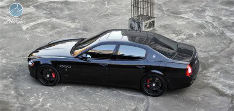 black maserati quattroporte pro shoot maserati quattroporte with 22 quot modulare c11