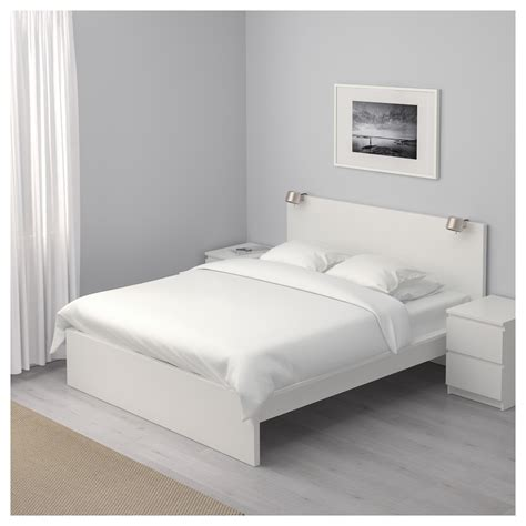 White Bed by Malm Bed Frame High White Lur 246 Y Standard King Ikea