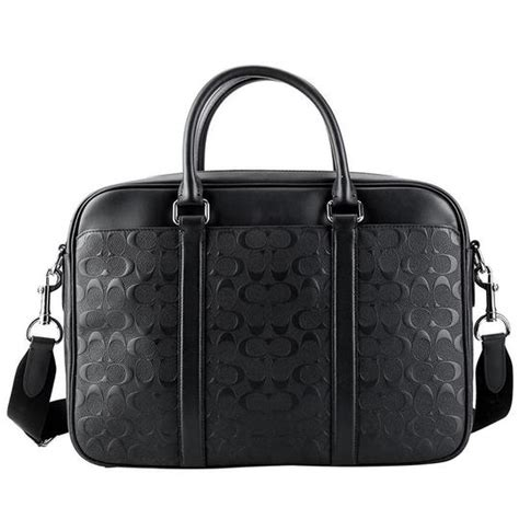 coach black leather laptop bag tradesy