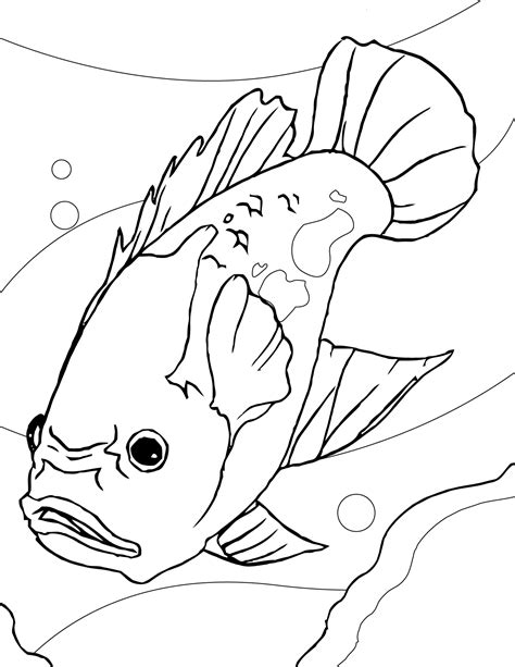 scary fish coloring pages fish coloring pages coloringsuite com