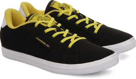 reebok canvas shoes buy black yellow color reebok